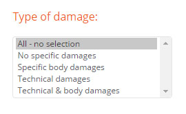 accident cars, damaged cars