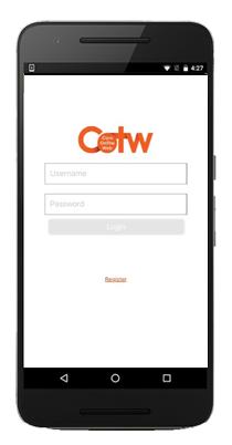 Log in - Mobile App