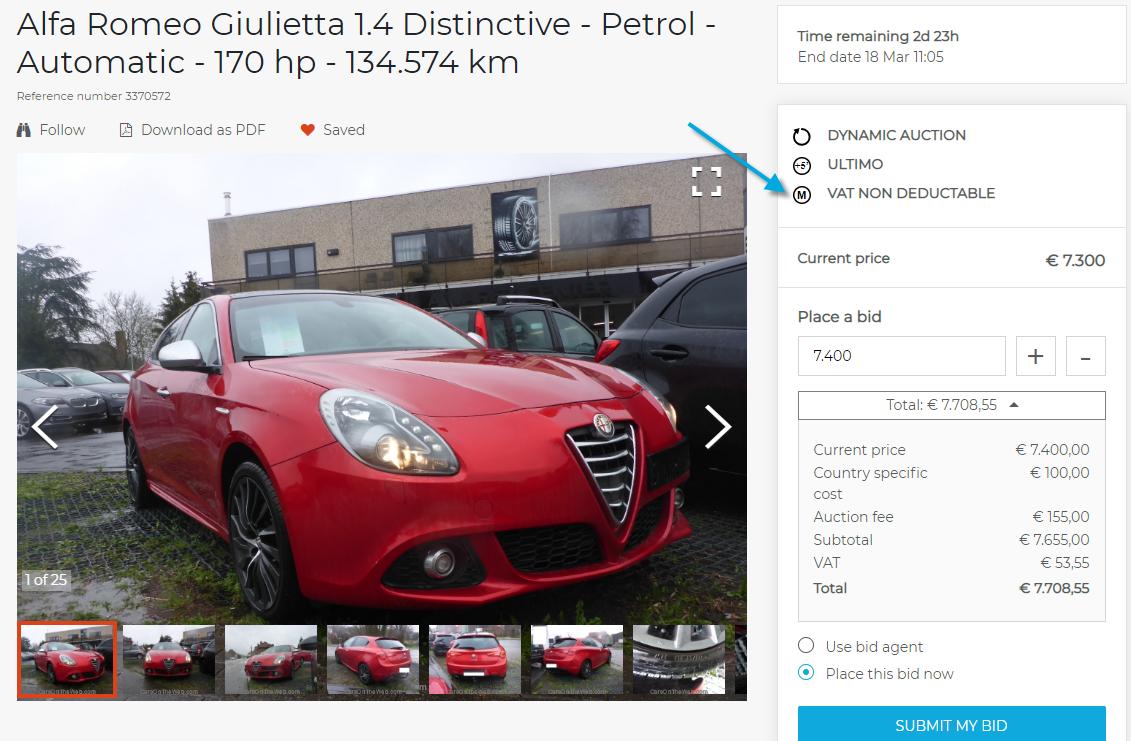 Online Car Auctions >> Margin Vehicles In Online Car Auction Carsontheweb